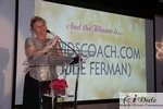 Julie Ferman (Cupid's Coach) Winner of Best Matchmaker at the 2010 Miami iDate Awards Ceremony