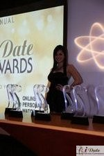 Award Model Andrea O'Campo at the January 28, 2010 Internet Dating Industry Awards in Miami