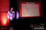 Maria Avgitidis announcing the Best Dating Software and SAAS at the January 17, 2013 Internet Dating Industry Awards Ceremony in Las Vegas
