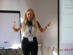 Julia Lanske at the 2017 Premium International Dating Industry Conference in Minsk